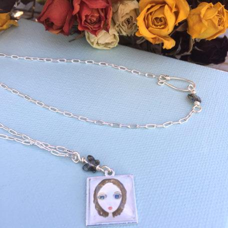 Anna Portrait Pendant Necklace