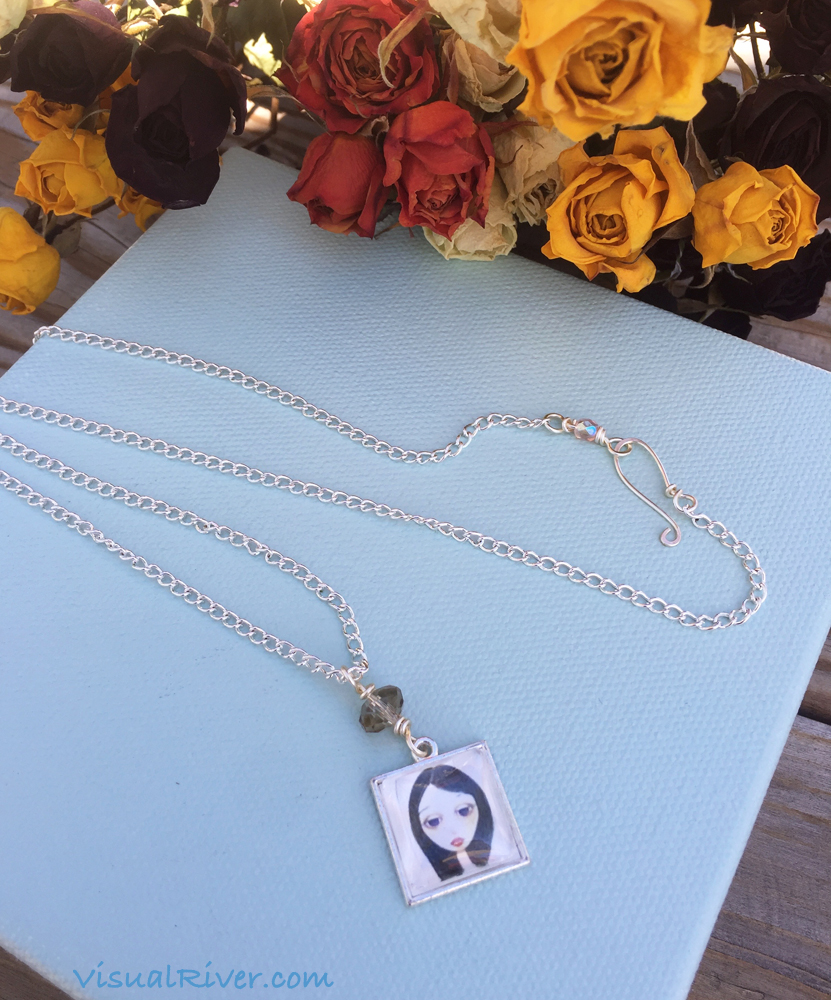 Sonya Portrait Pendant Necklace