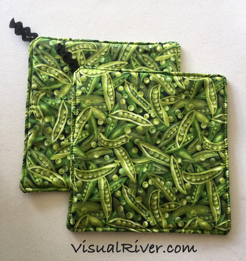 Pea Pod Pot Holders by VisualRiver