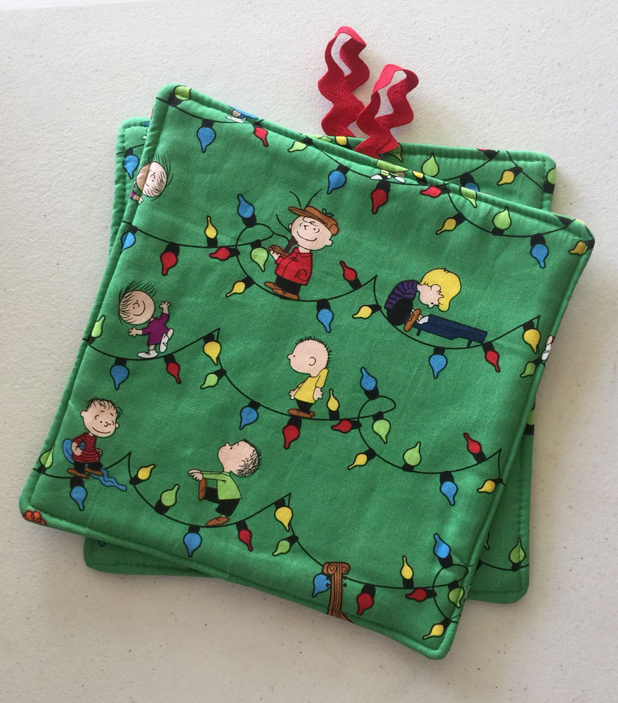 Charlie Brown Christmas Potholders