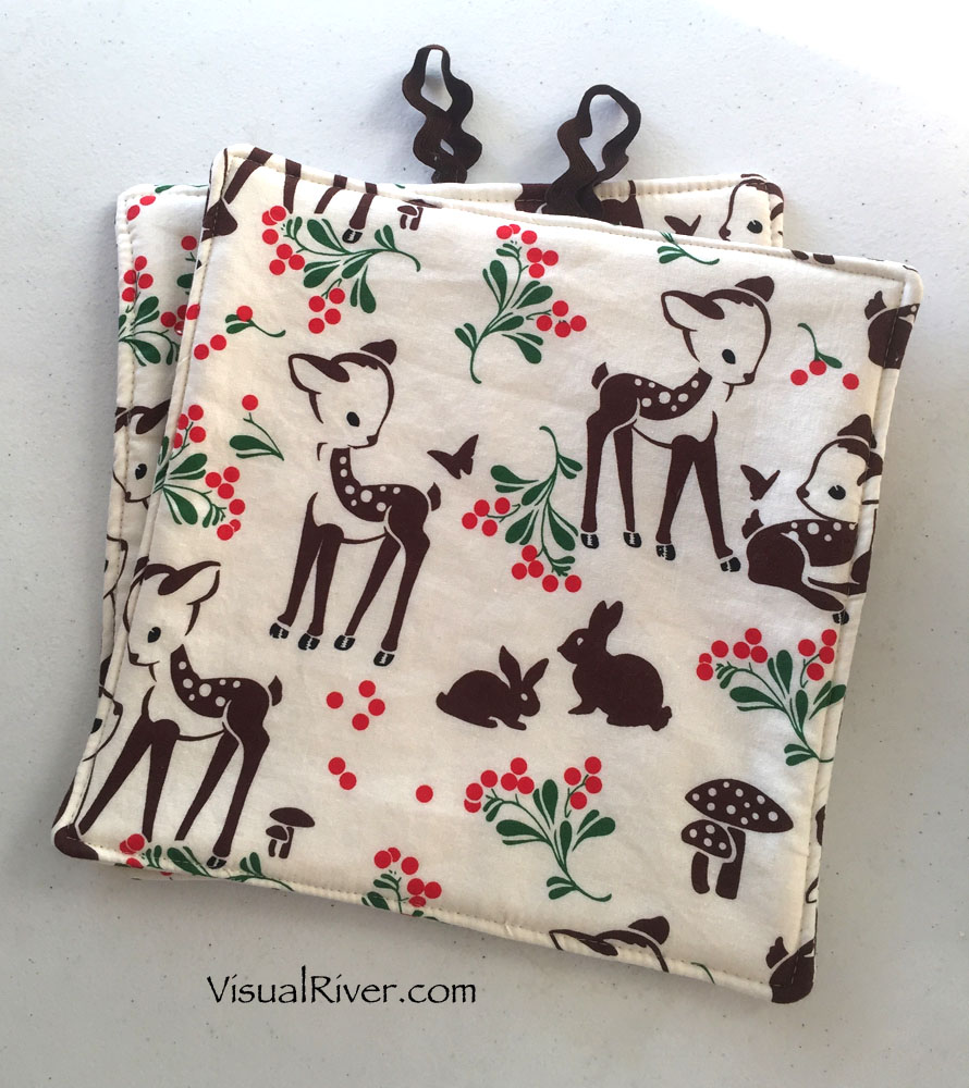 Bunny and Deer Pot Holders