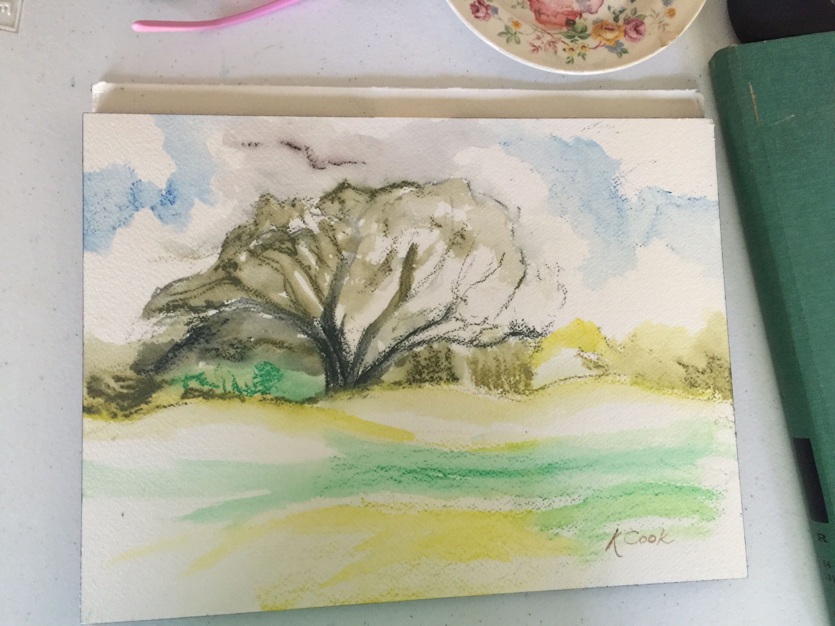 Coral Oaks Golf Course Ink Painting