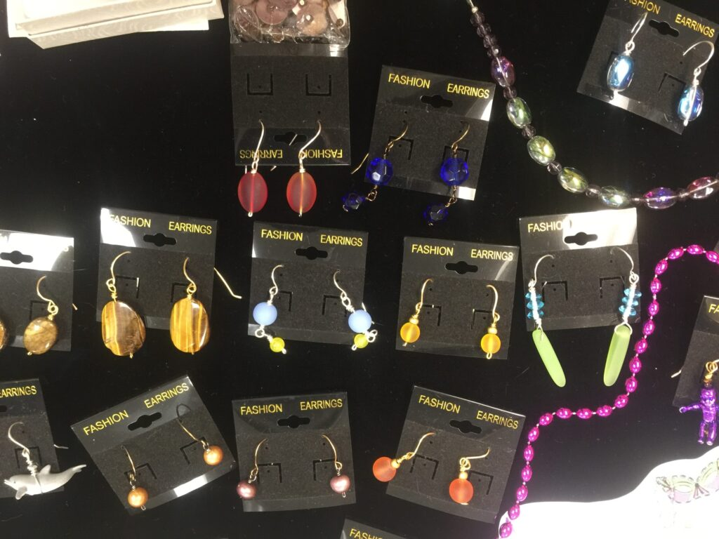 Earrings at Museum of the Islands, Pine Island Florida