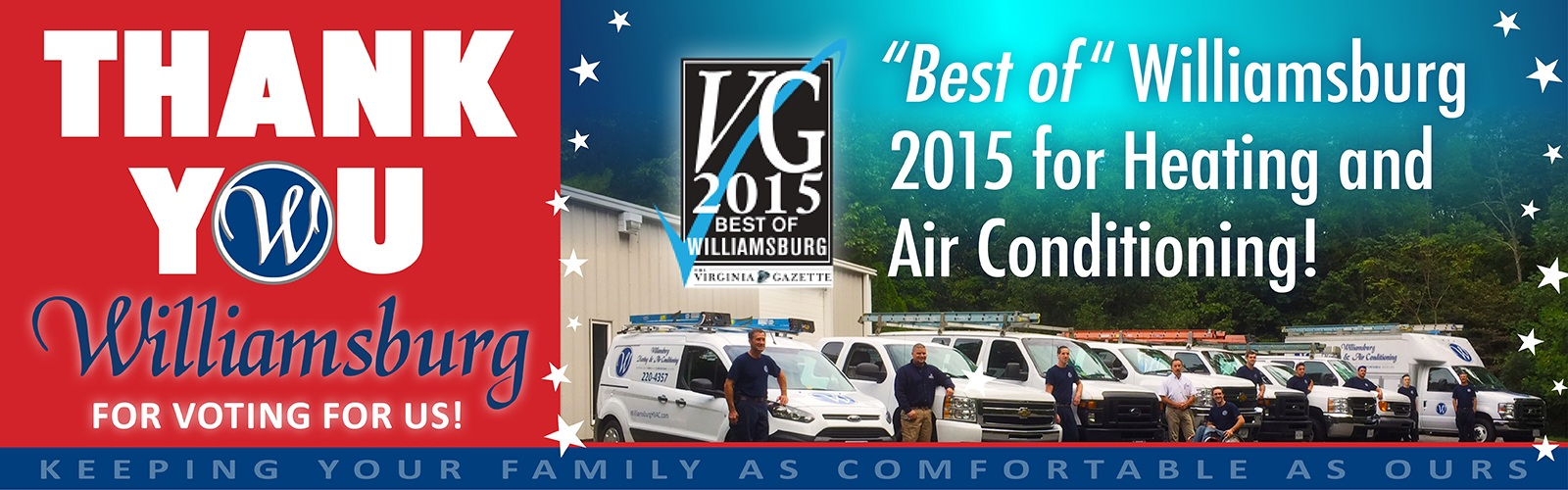 Williamsburg Heating & Air Conditioning - Best of Williamsburg 2015