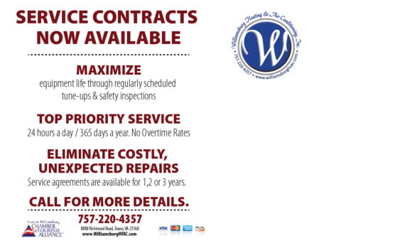 Service Contracts Now Available - Williamsburg Heating & Air Conditioning
