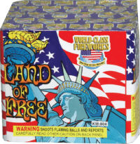 land of the free - 20 Shots - 200 Gram Aerials - Fireworks