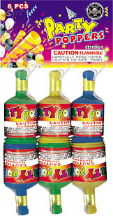 Party Poppers - Novelties - Fireworks - Safe And Sane