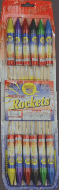 6 ounce Sky Rockets - Rockets - Bottle Rockets - Stick Rockets - Fireworks