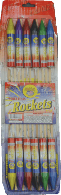 6 ounce Sky Rockets - Rockets - Bottle Rockets - Stick Rockets - Fireworks