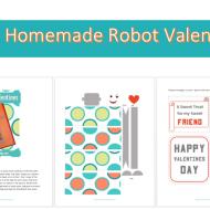 Homemade Valentines: FREE Robot Printables