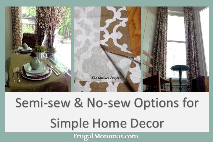 Semi-sew and no-sew options