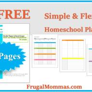 FREE Simple Flexible Homeschool Planner