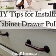Tips for Installing Cabinet Drawer Pulls