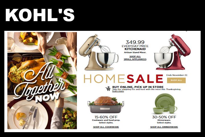 Kohls Christmas Black Friday Deals and Coupons