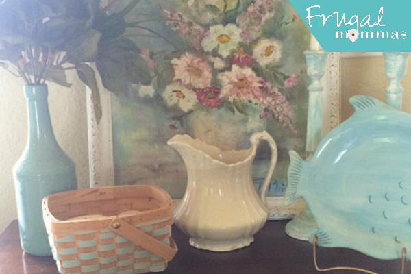 easy spring home decor - basket painting