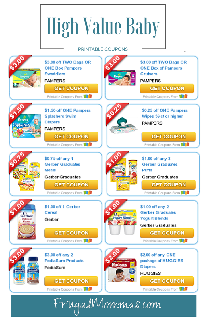 High Value Baby Toddler Coupons