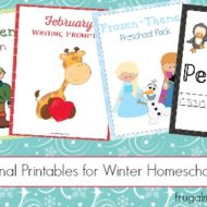 4 Educational Printables for Winter Homeschool Lessons