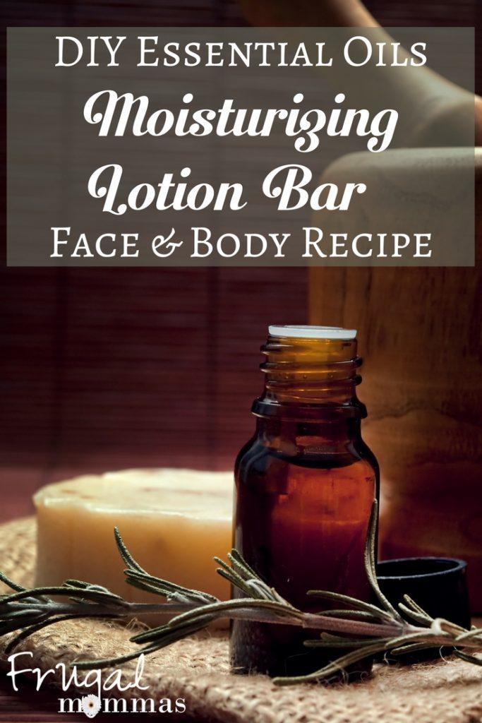 DIY Essential Oils Moisturizing Lotion Bar - Face and Body