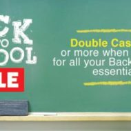 Double Cash Back Earning Points for Gift Cards