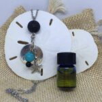 essential oils lava diffuser necklace- Never Give Up Starfish Charm