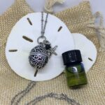 essential oils lava diffuser necklace Oval Cage Starfish Charm