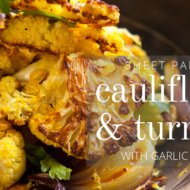 Pan Roasted Cauliflower with Turmeric
