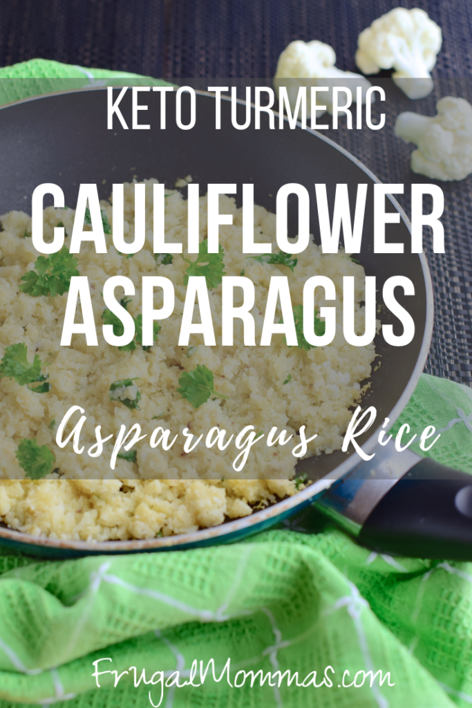 Keto Turmeric Cauliflower Asparagus Rice