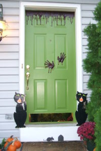Halloween Front Door Painting