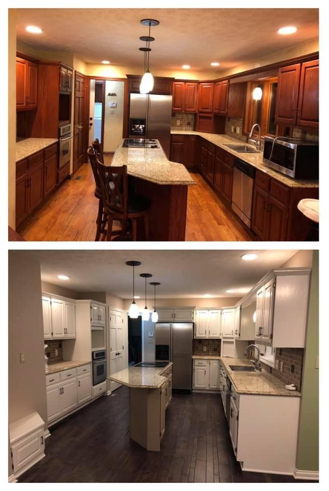 Cabinet Painting Before & After
