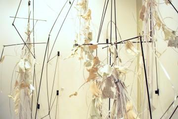 janet neuwalder, thread/bare group exhibition, installation
