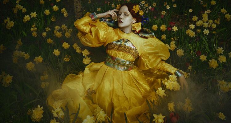 Mikaela Holmberg fine art photography yellow dress