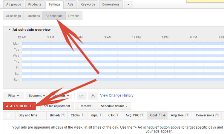 Google Shopping - Using Ad Scheduling