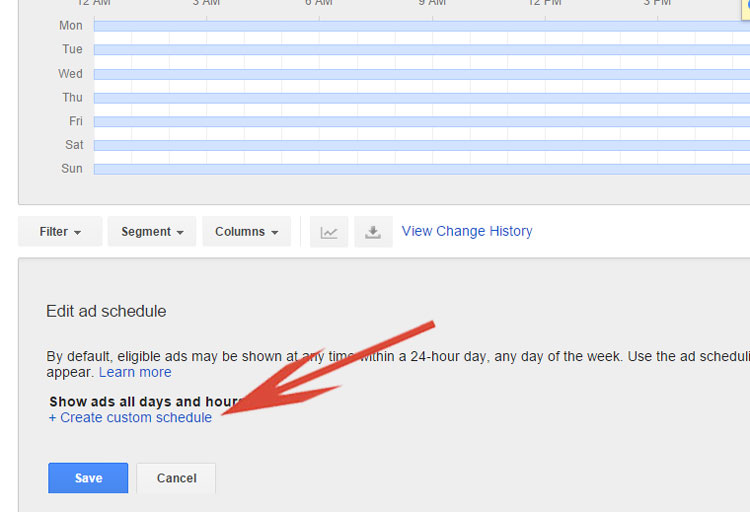 Google Shopping - Creating Custom Ad Scheduling Link