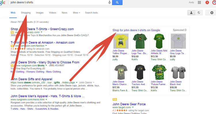 Google Shopping - What It Looks Like