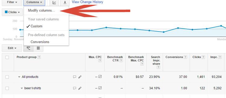 Modifying Columns In Google AdWords