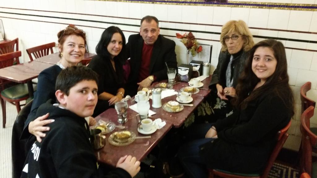 After dinner at Lanza's we went next door to DeRobertis for dessert