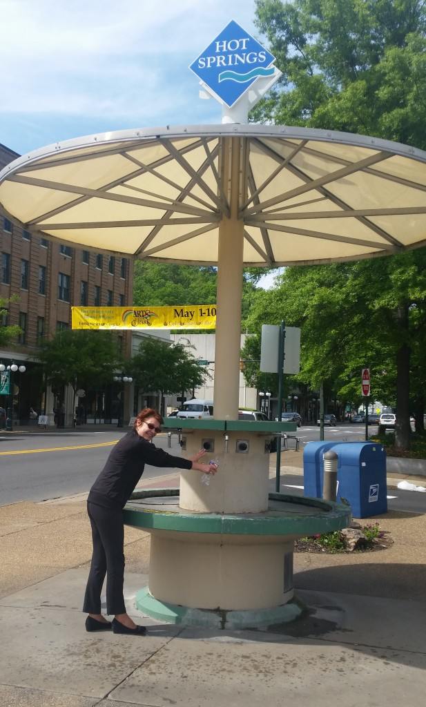 Mineral water public fountain