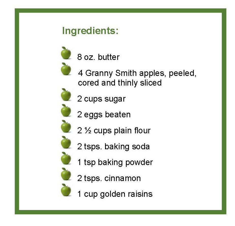 ingredients apple cake
