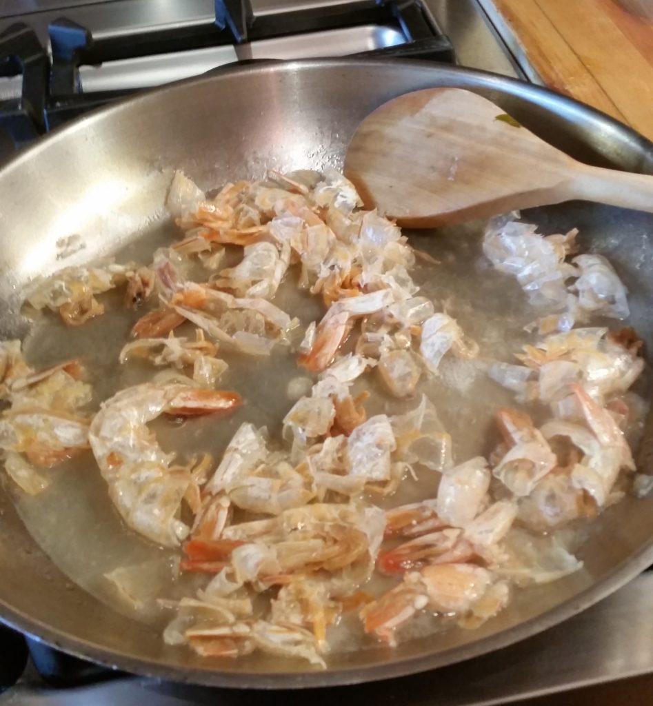 Poached Shrimp Scampi