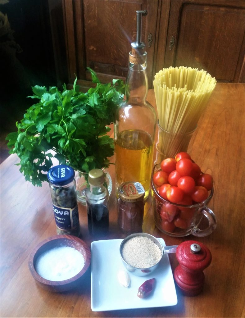 Pasta with Cherry Tomatoes and Colatura di Alici