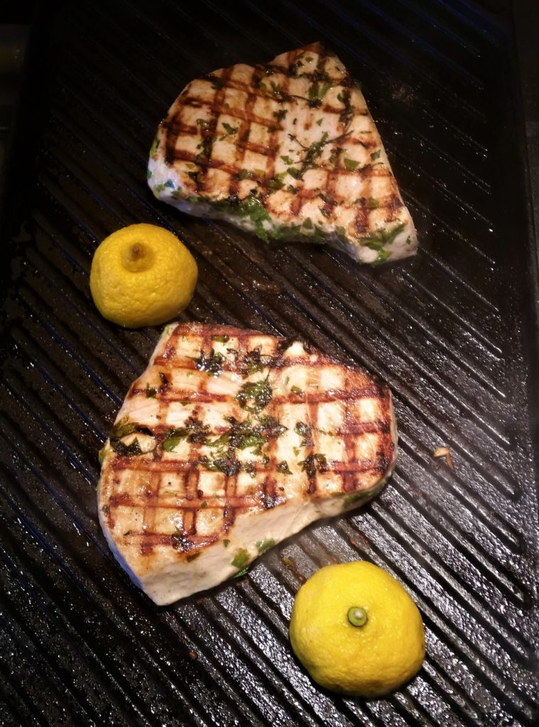 Swordfish with Mint and Lemon