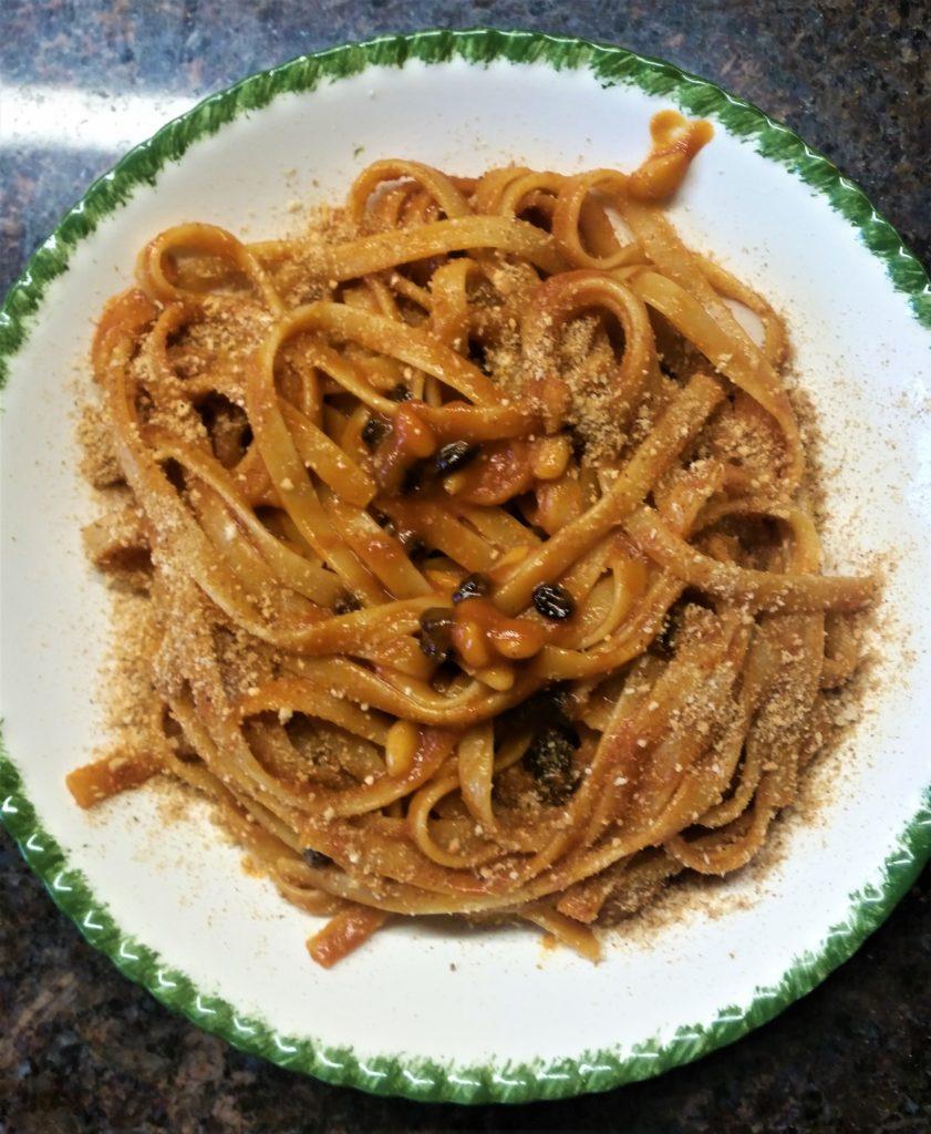 Filomena's Fettucine with Alici and Tomato Sauce