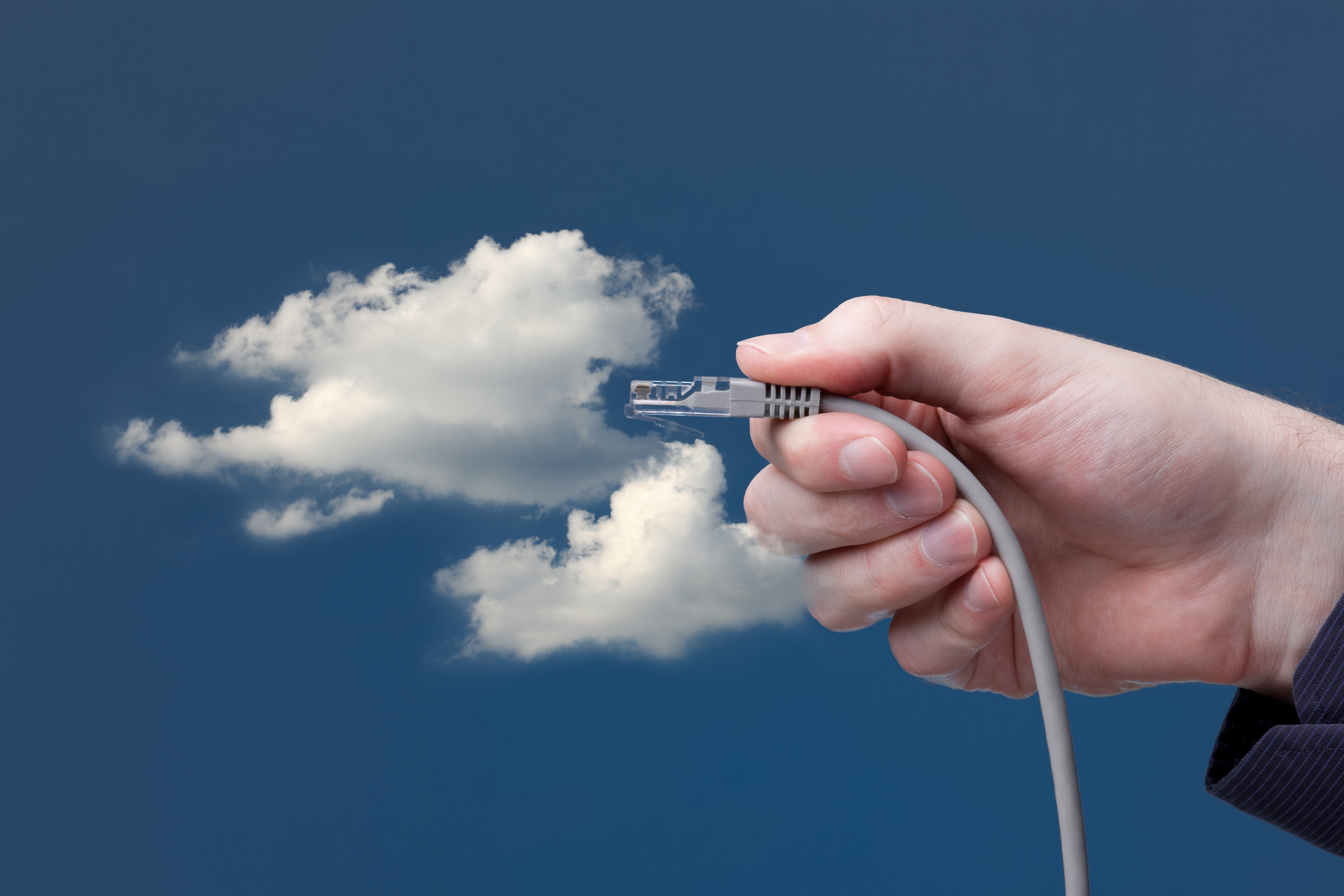 Hand plugging a network into a cloud