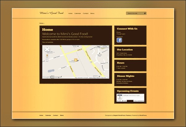 Mimi's Good Food Peachtree City by Vibrant Web Creations Peachtree City Website Designer