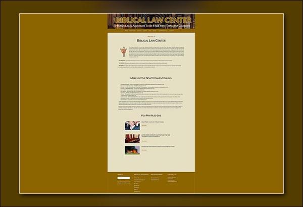 Biblical Law Website Design by Vibrant Web Creations in Atlanta Georgia