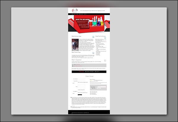 Detect & Protect Drug Testing Facility in Fayetteville GA website design by Vibrant Web Creations