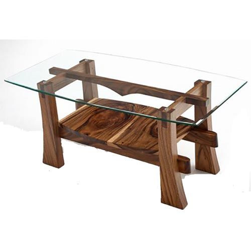 Mountain Modern Gl Top Coffee Table Rustic Log