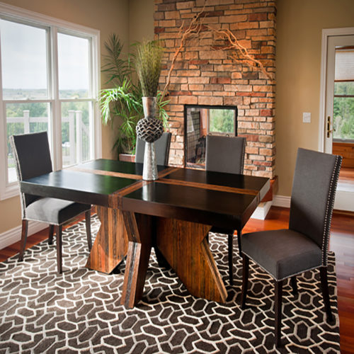 Contemporary Rustic Dining Room