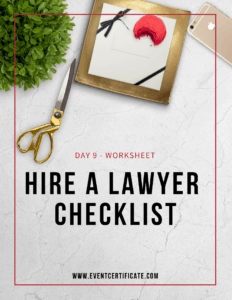 hire a lawyer checklist
