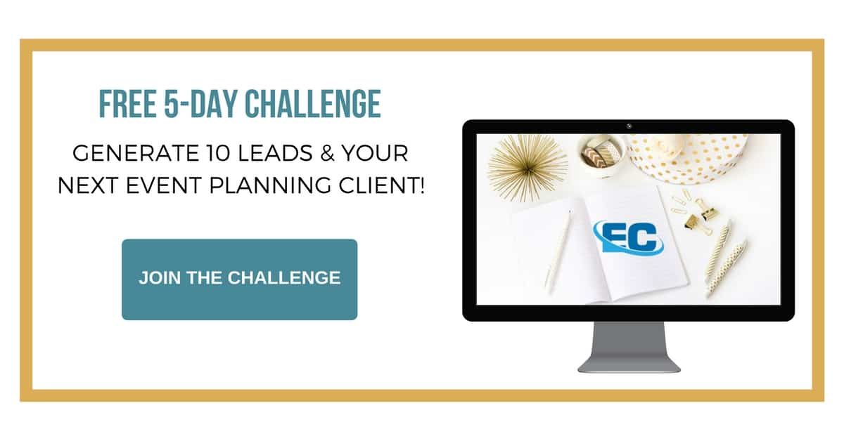 event planning business 5 day client challenge